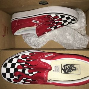 Checker Flame Classic Slip on Vans